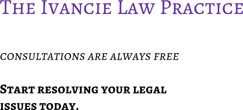 Ivancie Law Contact US image