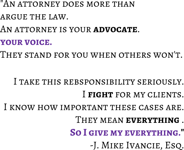 Hire employment law expert Mike Ivancie